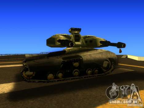 Star Wars Tank v1 para GTA San Andreas traseira esquerda vista