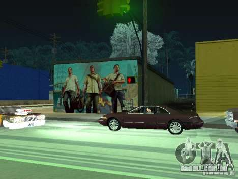 Cartaz de GTA V para GTA San Andreas por diante tela