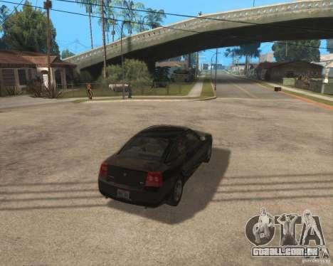 Dodge Charger para GTA San Andreas vista direita