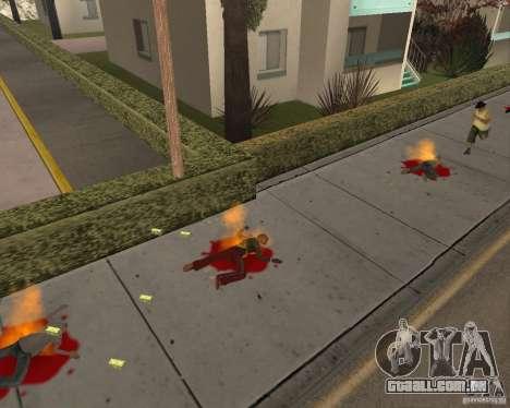 Munição incendiária para GTA San Andreas segunda tela