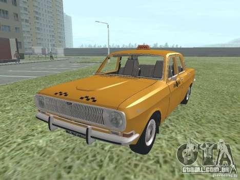 Táxi GAZ 24-01 para GTA San Andreas traseira esquerda vista