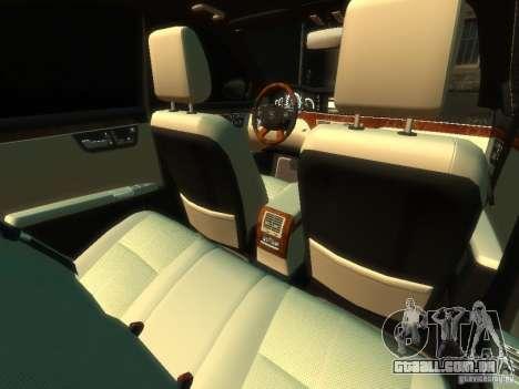 Mercedes-Benz W221 S500 para GTA 4 vista interior