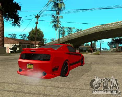 Ford Mustang Red Mist Mobile para GTA San Andreas traseira esquerda vista