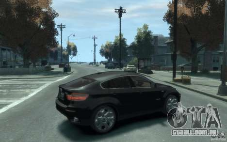 BMW X6 para GTA 4 vista direita