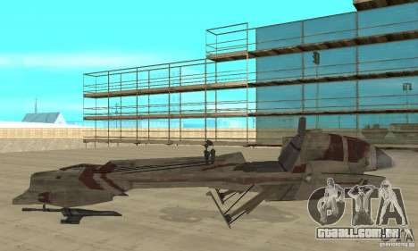 Star Wars speedbike para GTA San Andreas esquerda vista