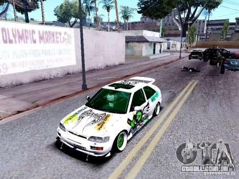 Ford Escort RS 92 Hella para GTA San Andreas vista traseira