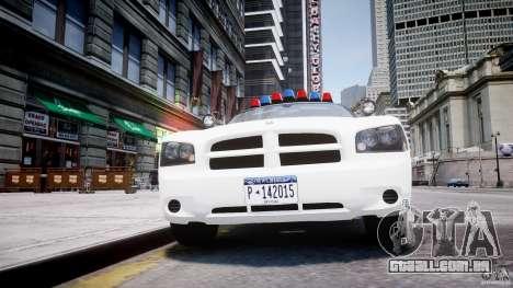 Dodge Charger FBI Police para GTA 4 vista inferior