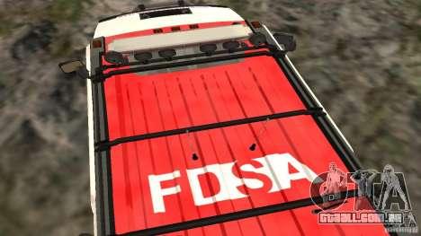 HUMMER H2 Amulance para GTA San Andreas vista direita