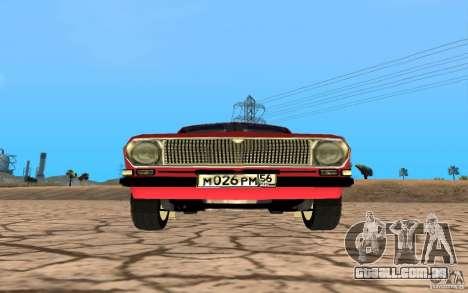 Volga GAZ 24 para GTA San Andreas traseira esquerda vista