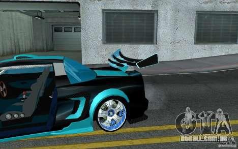 Baby blue Infernus para GTA San Andreas vista superior