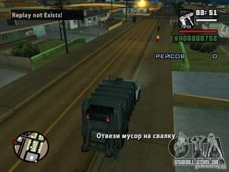 O motorista do caminhão para GTA San Andreas terceira tela