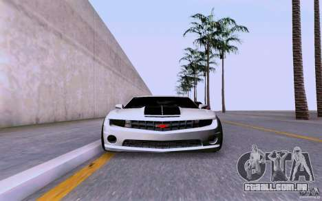 Chevrolet Camaro Super Sport 2012 para GTA San Andreas traseira esquerda vista