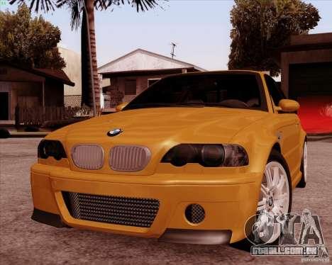 BMW M3 E46 stock para GTA San Andreas vista interior