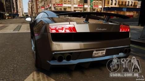 Lamborghini Gallardo LP570-4 Superleggera para GTA 4 traseira esquerda vista