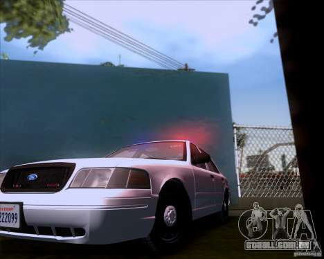 Ford Crown Victoria 2009 Detective para GTA San Andreas vista traseira