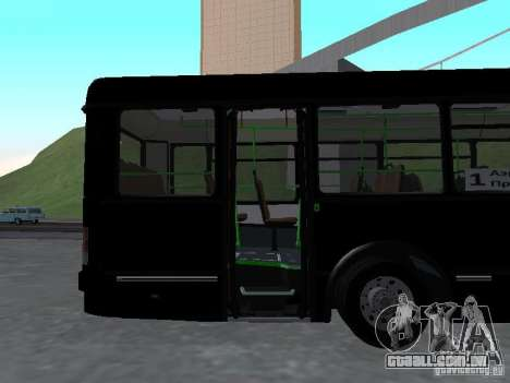 Autocarros 6222 para GTA San Andreas vista interior