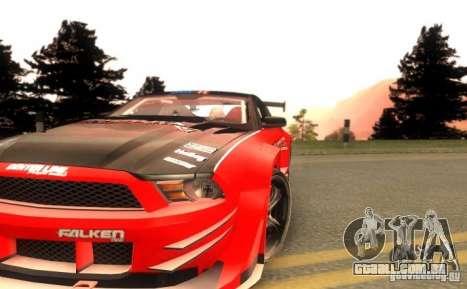 Ford Mustang Shelby GT500 V1.0 para vista lateral GTA San Andreas