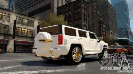 Hummer H3 2005 Gold Final para GTA 4 traseira esquerda vista