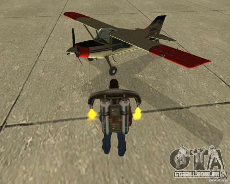 Transporte aéreo de Pak para GTA San Andreas vista interior