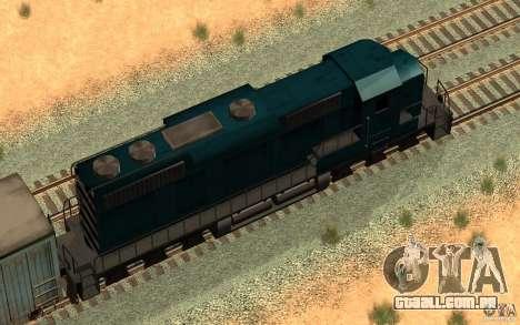 San Andreas Beta Train Mod para GTA San Andreas vista direita