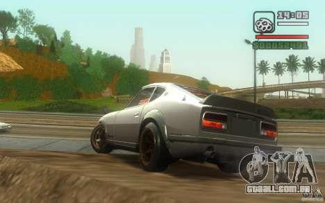 Datsun 240ZG para GTA San Andreas vista traseira