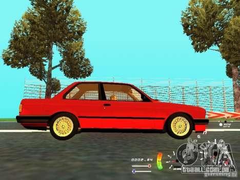 BMW E30 87-91 para GTA San Andreas vista traseira