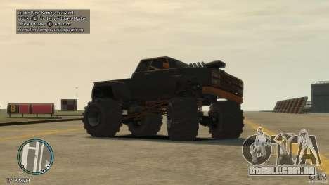 Bobcat megatruck 1.0 para GTA 4 esquerda vista