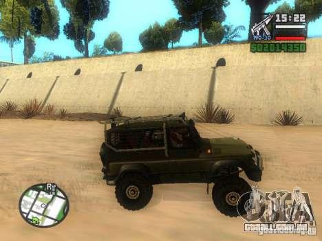 UAZ Hunter para GTA San Andreas esquerda vista