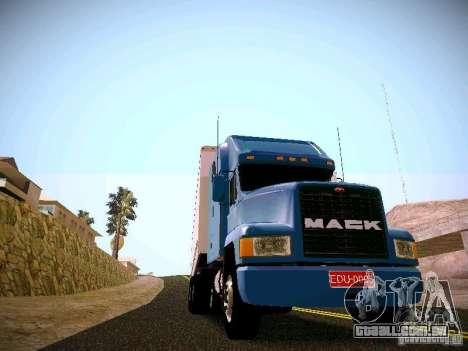 Mack ch 613 para GTA San Andreas traseira esquerda vista