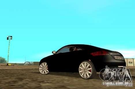 Audi TT 2007 para GTA San Andreas traseira esquerda vista