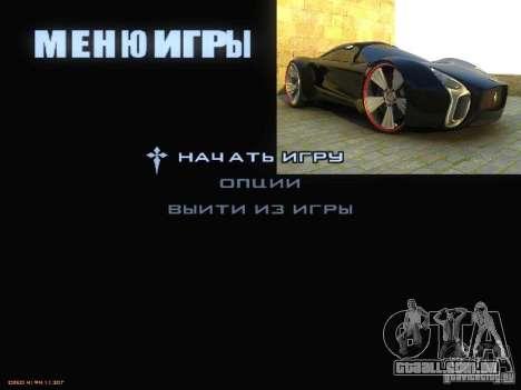 Arrancar a tela e menu mundo Mishin v2 para GTA San Andreas sexta tela