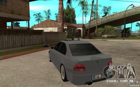 BMW 523i CebeL Tuning para GTA San Andreas traseira esquerda vista