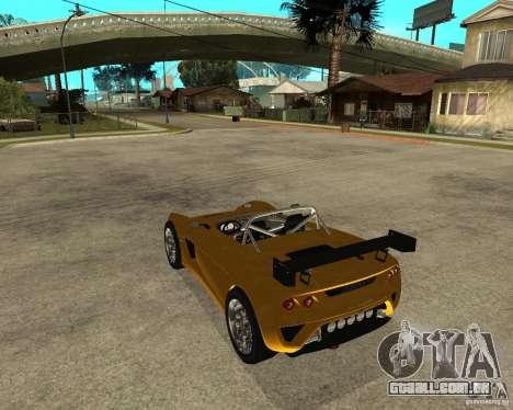 Lotus 2-Eleven para GTA San Andreas esquerda vista