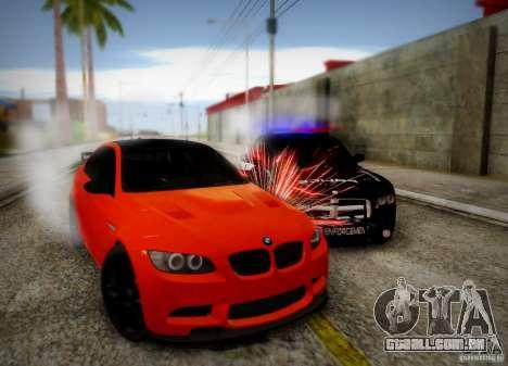 BMW M3 GT-S para GTA San Andreas vista superior