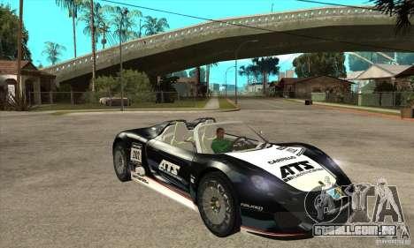 Porsche 918 Spyder para GTA San Andreas vista traseira