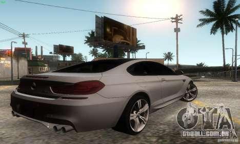BMW M6 Coupe 2013 para GTA San Andreas esquerda vista