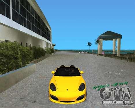 Porsche Boxster 2010 para GTA Vice City deixou vista