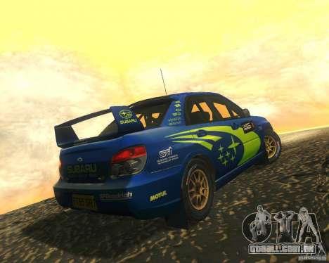 Subaru Impreza WRX STI DIRT 2 para GTA San Andreas vista interior