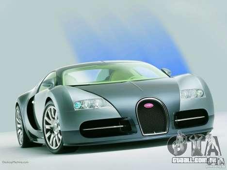 Carregamento telas Bugatti Veyron para GTA San Andreas terceira tela