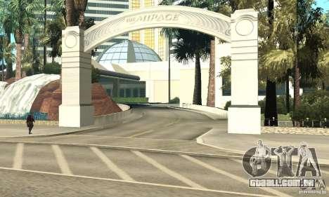 Welcome to Las Vegas para GTA San Andreas quinto tela