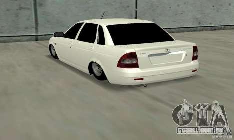Lada Priora Low para GTA San Andreas traseira esquerda vista