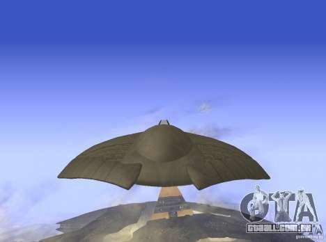 Death Glider para GTA San Andreas traseira esquerda vista