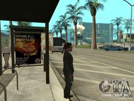 Linha de ônibus em Las Venturas para GTA San Andreas por diante tela