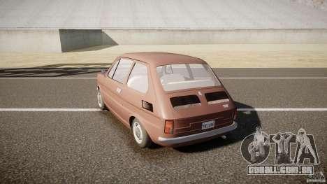 Fiat 126 para GTA 4 traseira esquerda vista