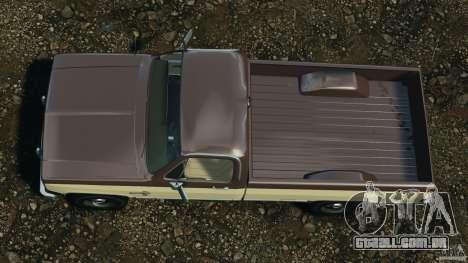 Chevrolet Silverado 1986 para GTA 4 vista direita