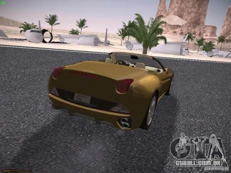 Ferrari California para GTA San Andreas vista direita