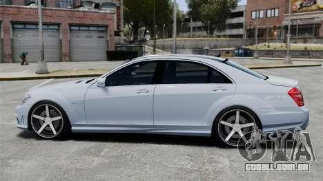 Mercedes-Benz S65 W221 Vossen v1.2 para GTA 4 esquerda vista
