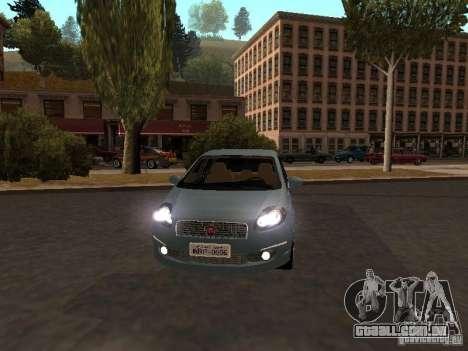 Fiat Linea T-jet para GTA San Andreas esquerda vista