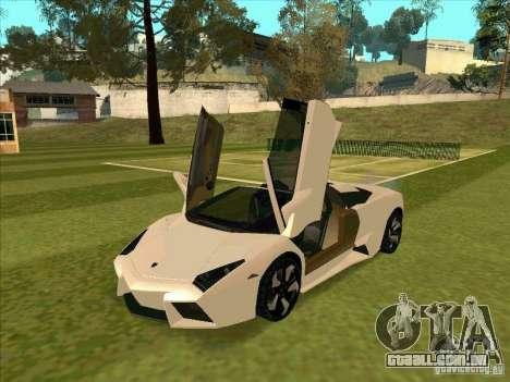 Lamborghini Reventon Convertible para GTA San Andreas esquerda vista