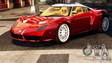 Spyker C12 Zagato 2007 para GTA 4 traseira esquerda vista